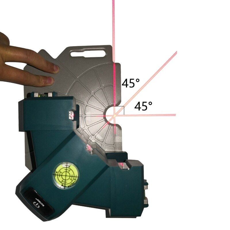 45/90 Degree Right Angle Laser Level Square Tile Ground Instrument Stick The Wall Movable Measurement Tool With Magnetic Board