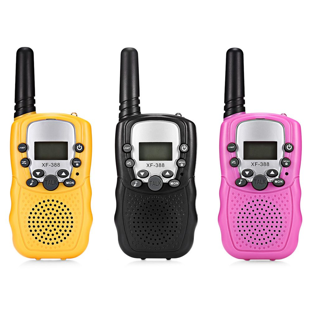 XF - 388 2pcs Children Portable Walkie Talkies 2-Way Radio 3KM Range 8 Channels Kids Child Mni Handheld Toys Walkie Talkie