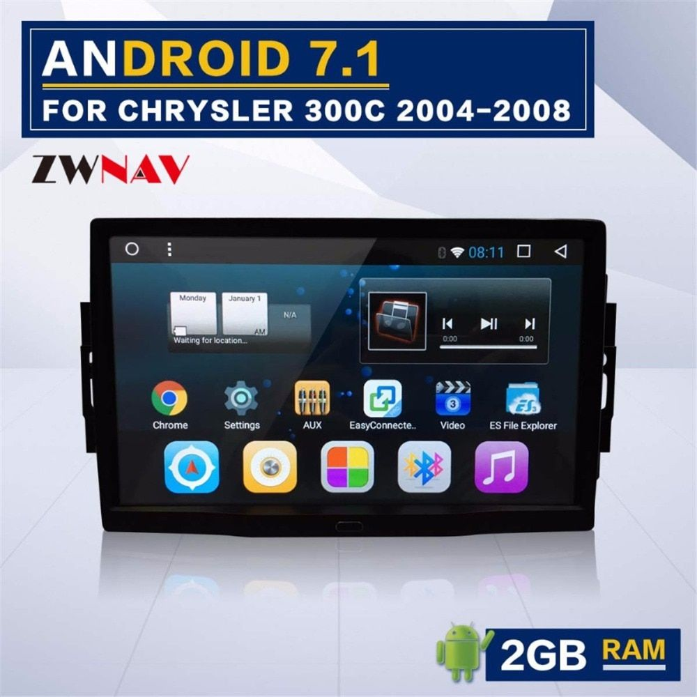 Android 8.1 8 core Car Stereo GPS Navigation Radio For Jeep Grand Cherokee Patriot Dodge Charger Chrysler 300C No DVD Player