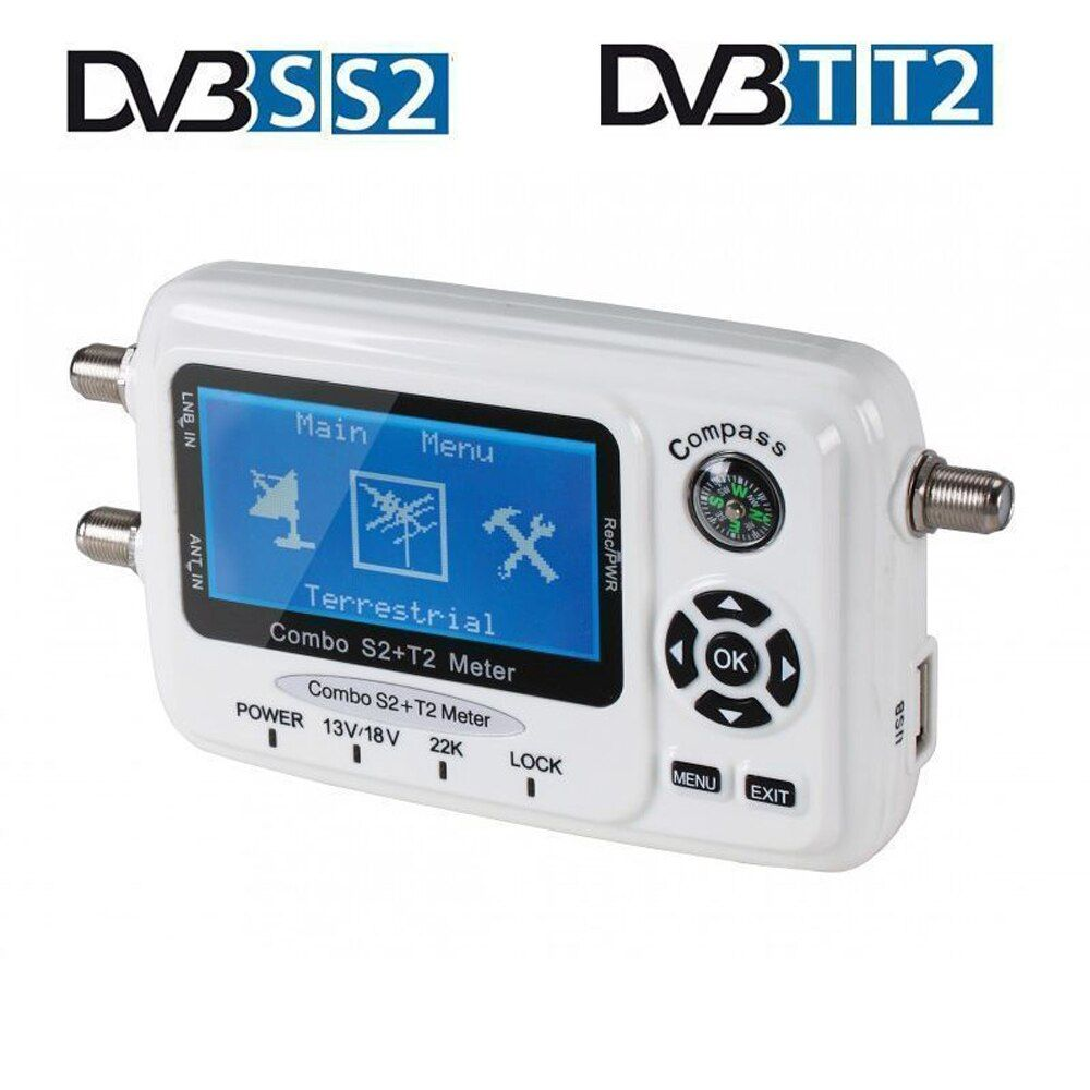 SF 560 SF-560 DVB-S/T/S2/T2 Digital Satellite Finder Signal Meter Satellite Dish Finder Sat Finder Compass Antena Parabolica