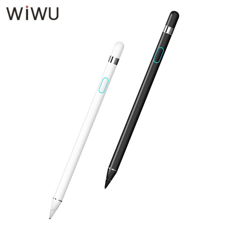 WIWU Active Stylus Pen High Precision Tip Pencil For Ipad Tablet/ Laptop/ Phones Capacitive Touch Screen Stylus Metal Pens White