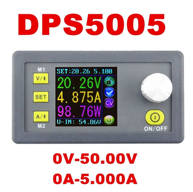 DPS5005 Constant Voltage current Step-down Programmable control Supply Power module buck Voltage converter LCD voltmeter 50%off