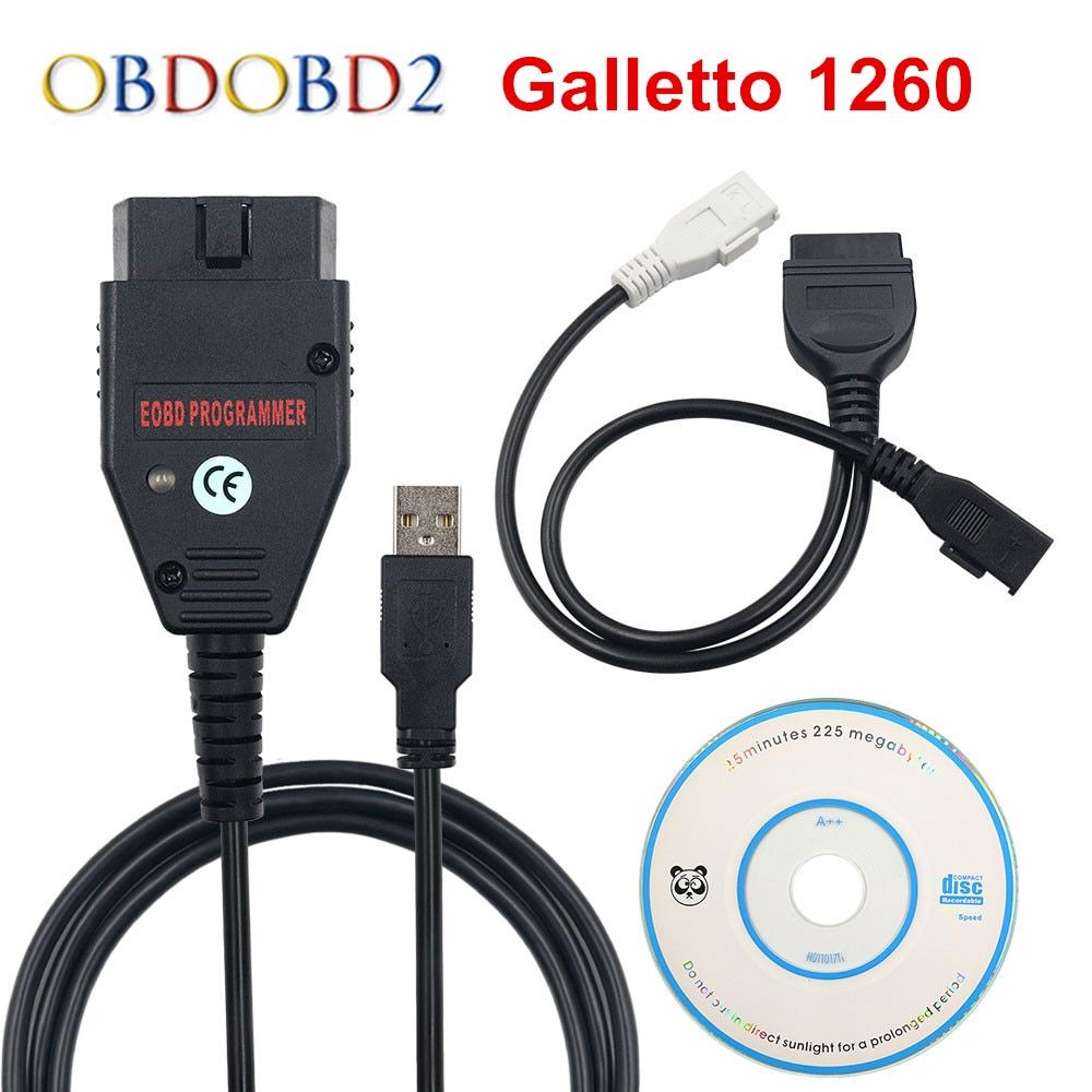 Meilleure qualité Galletto 1260 ECU puce Tuning outil EOBD Flasher ECU Flasher vert PCB FTDI FT232RQ lire et écrire livraison gratuite