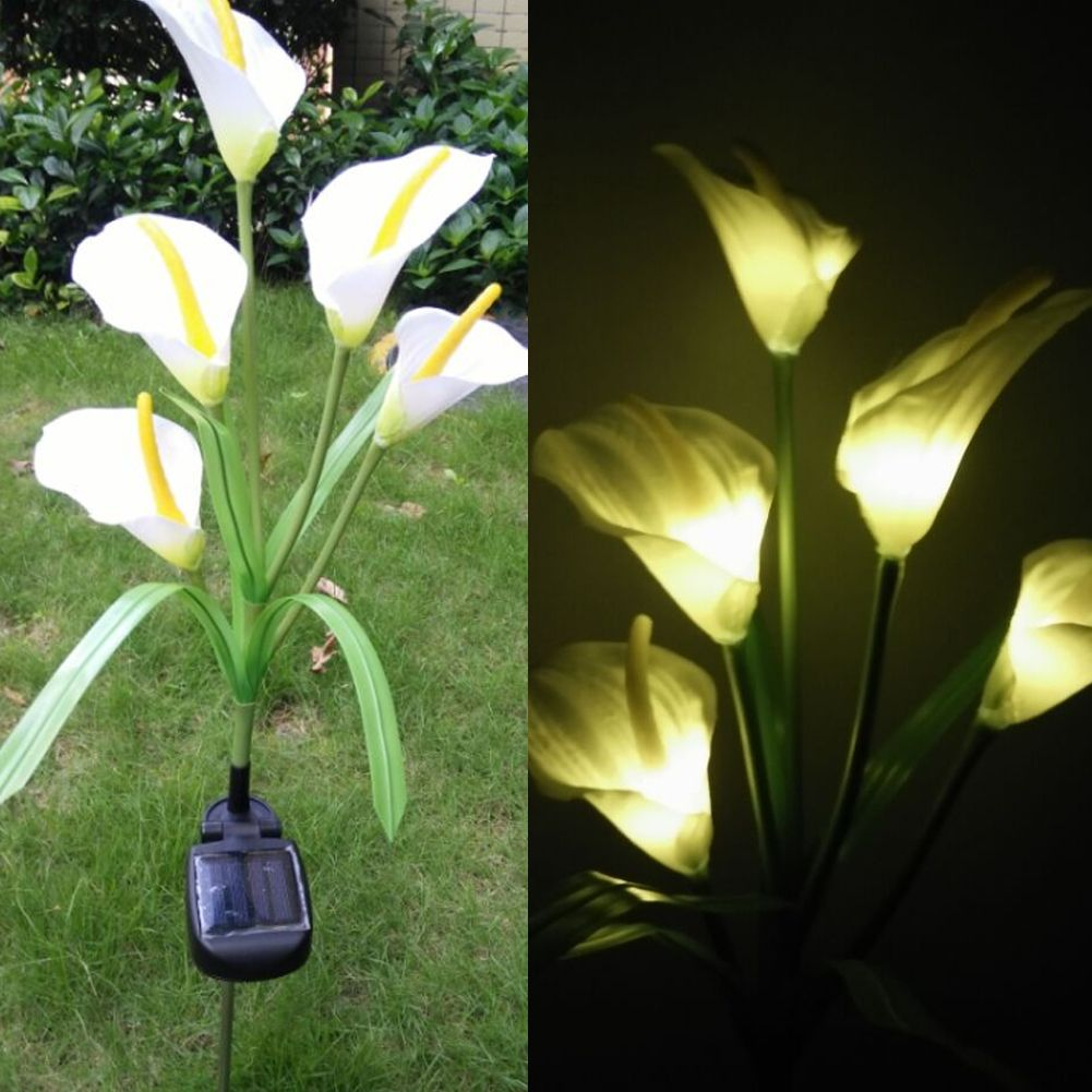Solar LED Light Outdoor Waterproof 5 LED Solar Powered Lamp for Yard Path Way Decorative Outdoor Garden Flower Lamp