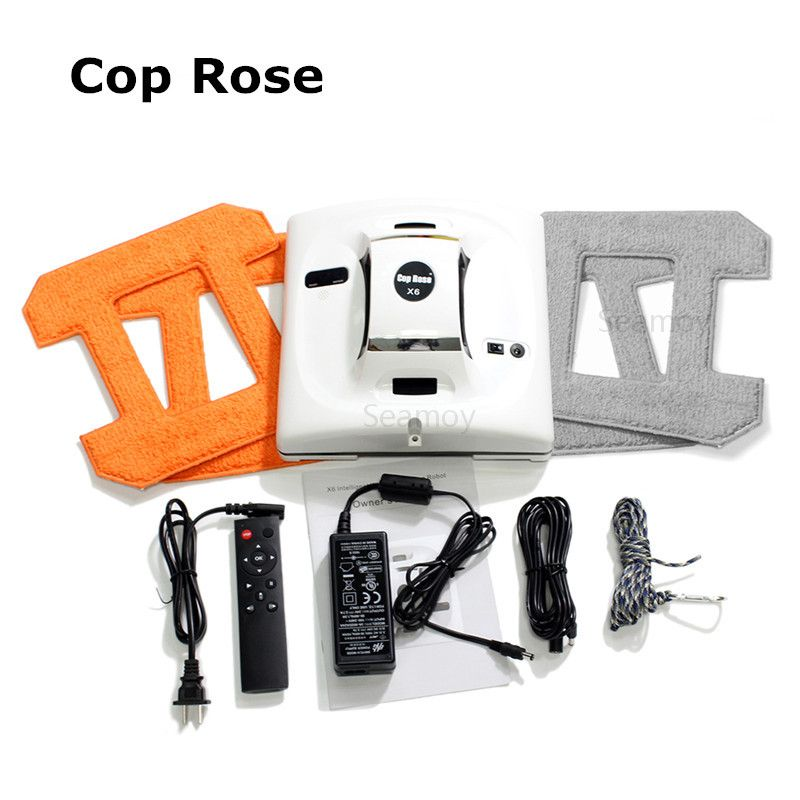 Window Robot Window <font><b>Cleaner</b></font> Vacuum <font><b>Cleaner</b></font> Cop Rose Automatic Glass Washer Machine Glass Washing Tools Window Cleaning Robot