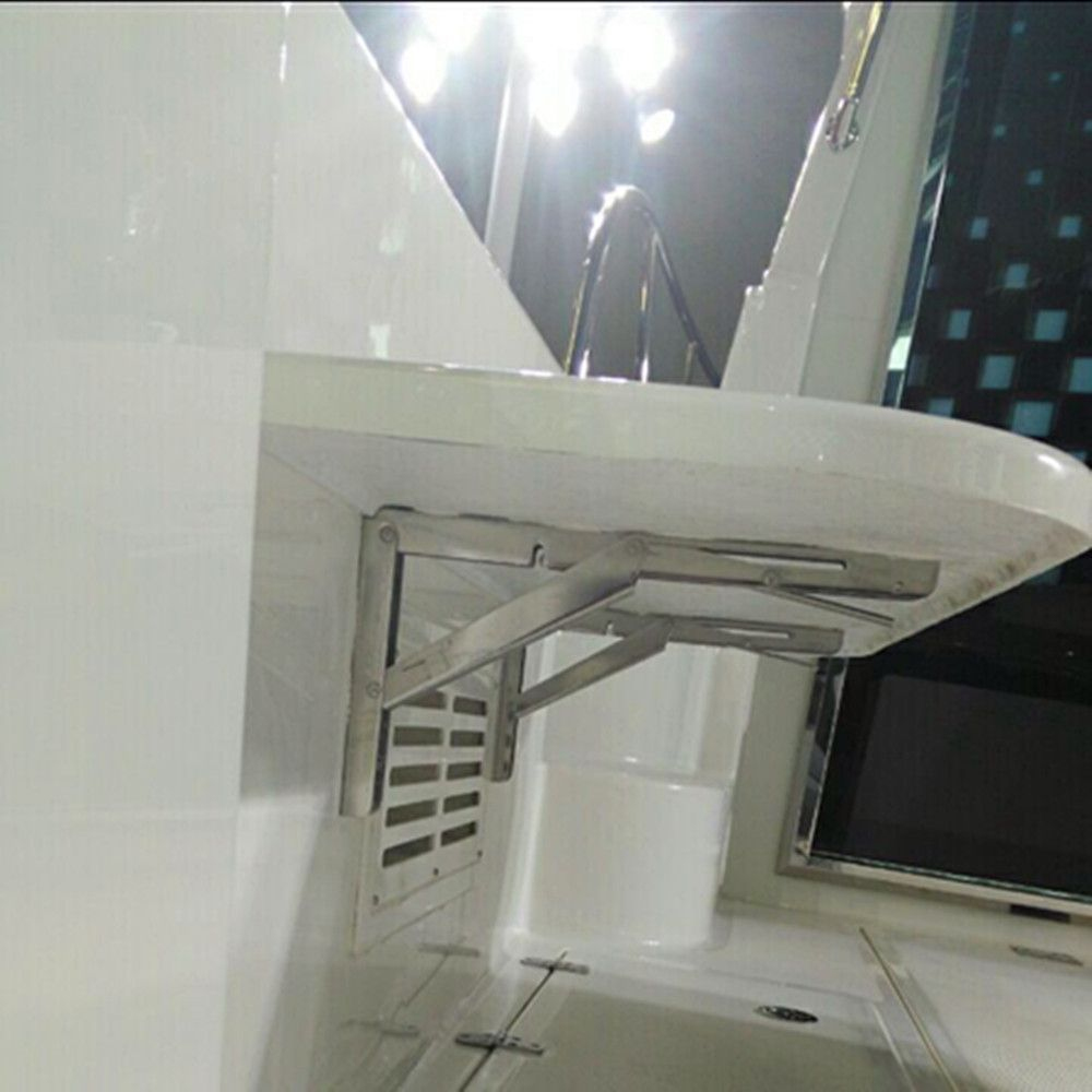 2 pièces Support de Table de pont mural pliant Table étagère Support Support Marine acier inoxydable