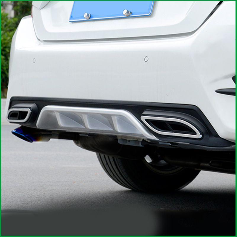For HONDA CIVIC Sedan 10th 2016 2017 2018 Sport Style Car Rear Bumper Guard Diffuser Spoiler Upgrade Replacement Exhaust Pipe