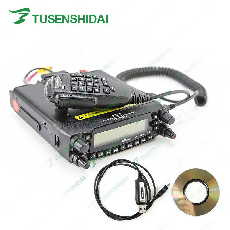 Neueste Version 100% Ursprüngliche TYT TH-9800 Quad-Band Auto Mobile Radio Transceiver Zweiwegradio + Programmierkabel