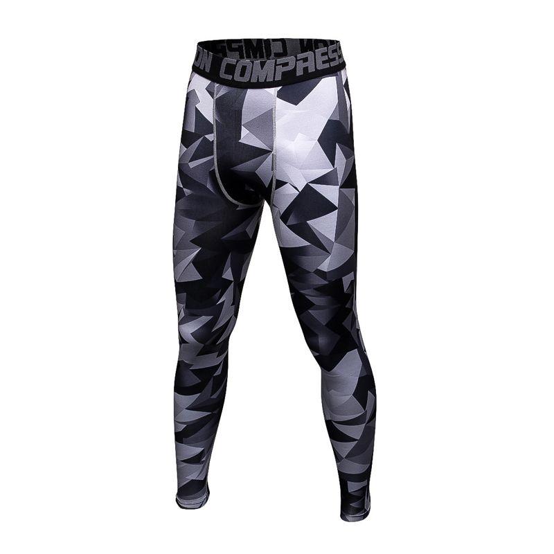 Laufhose männer Sport Leggins Pro Compression Hosen Camouflage Print Hohe Elastische Laufhose Basketball Leggings