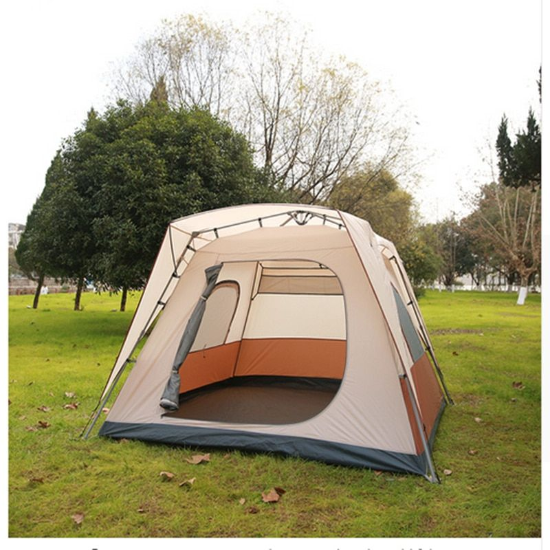 Tents For Camping Party Tents For Events Camping 4 Season Tent 6-8 Person Use Double Layer Tent