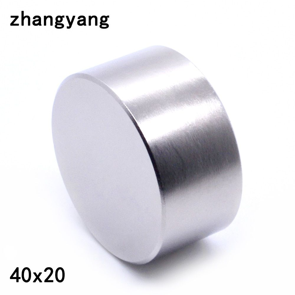 ZHANGYANG 1pcs N52 Neodymium magnet 40x20 mm gallium metal super strong magnets 40*20 round magnet powerful permanent magnetic