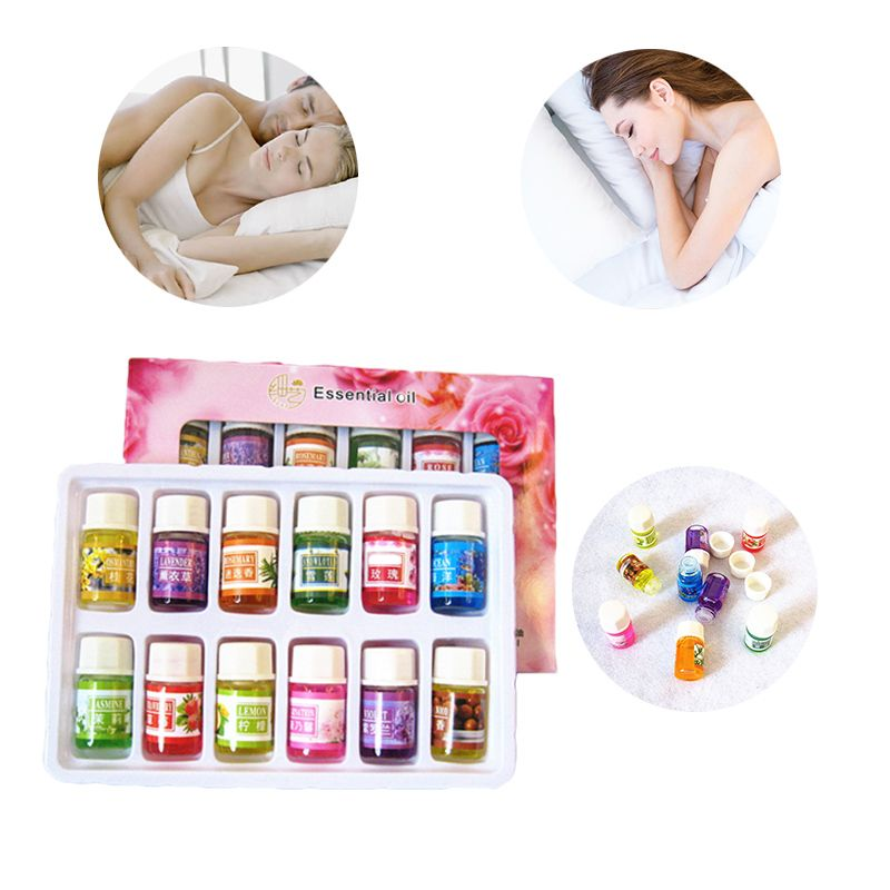 12Smells Essential Oil Set Natural Grade Oils Scents Fragrance Spa Bath Massage