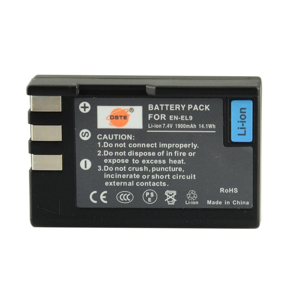 DSTE EN-EL9 Li-ion Batterie pour Nikon D40 D40X D60 D3000 D5000 Caméra