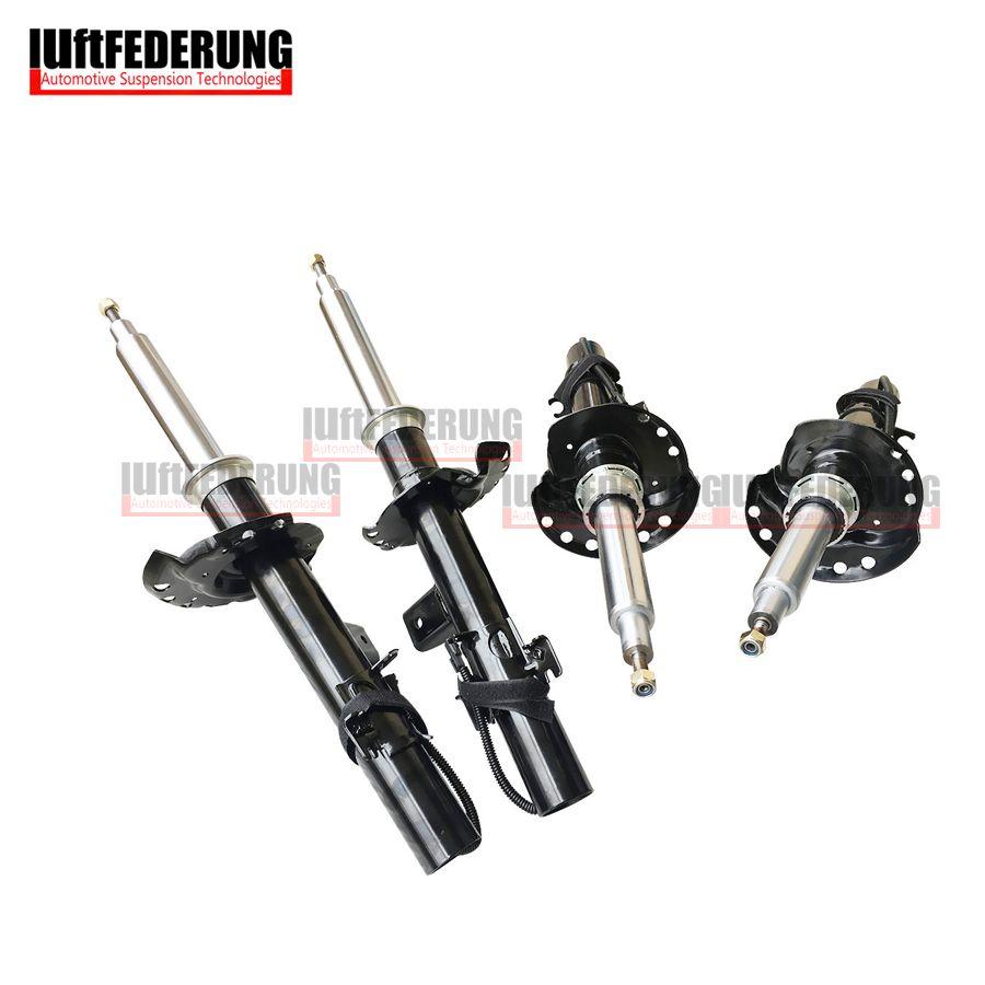 Luftfederung 4pcs Front Shock Absorber With Sensor Rear Suspension Spring Strut Fit Land Rover Evoque BJ3218080 BJ3218K001