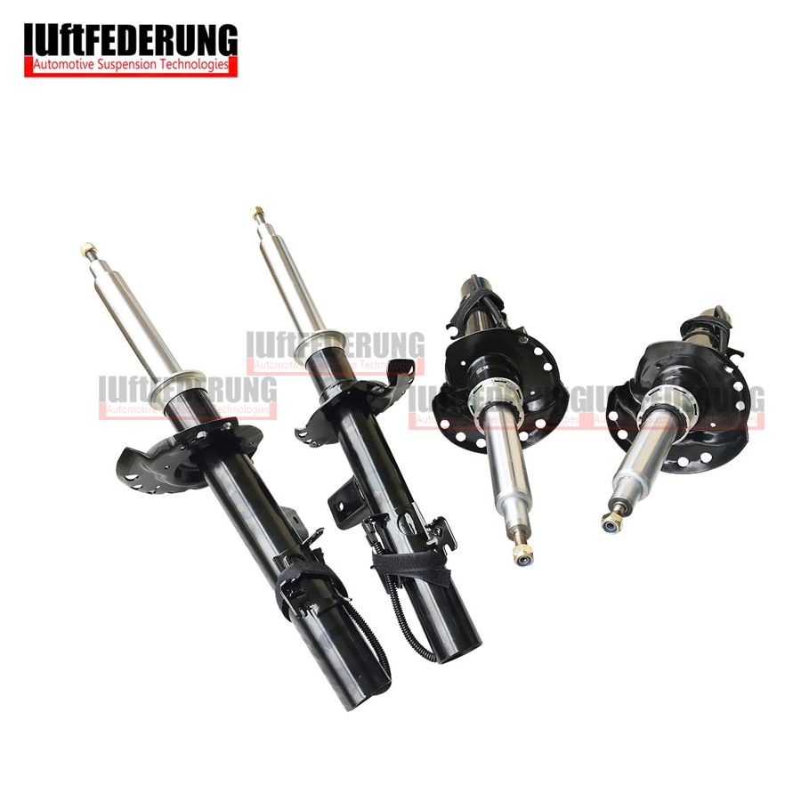 Luftfederung 4pcs Front Shock Absorber With Sensor Rear Suspension Spring Strut Fit Land Rover Evoque BJ3218080 BJ3218K001