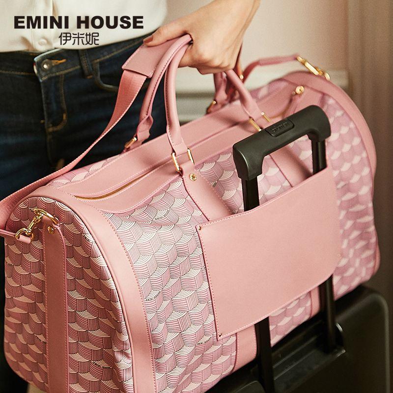 EMINI HAUS PVC Hohe Kapazität Reisetasche Wasserdichte Boston Tasche Luxus Handtaschen Frauen Taschen Designer Frauen Schulter Taschen