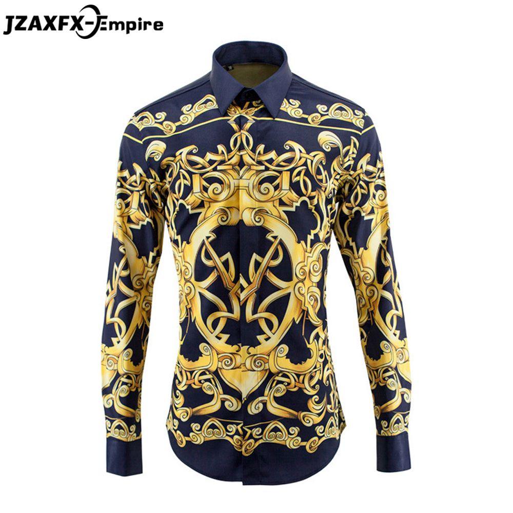 Neue Ankunft Männer Europäischen und Amerikanischen stil Royal Design Hemd Langarm Männer Casual Slim fit T-shirt Qualität hemd männer