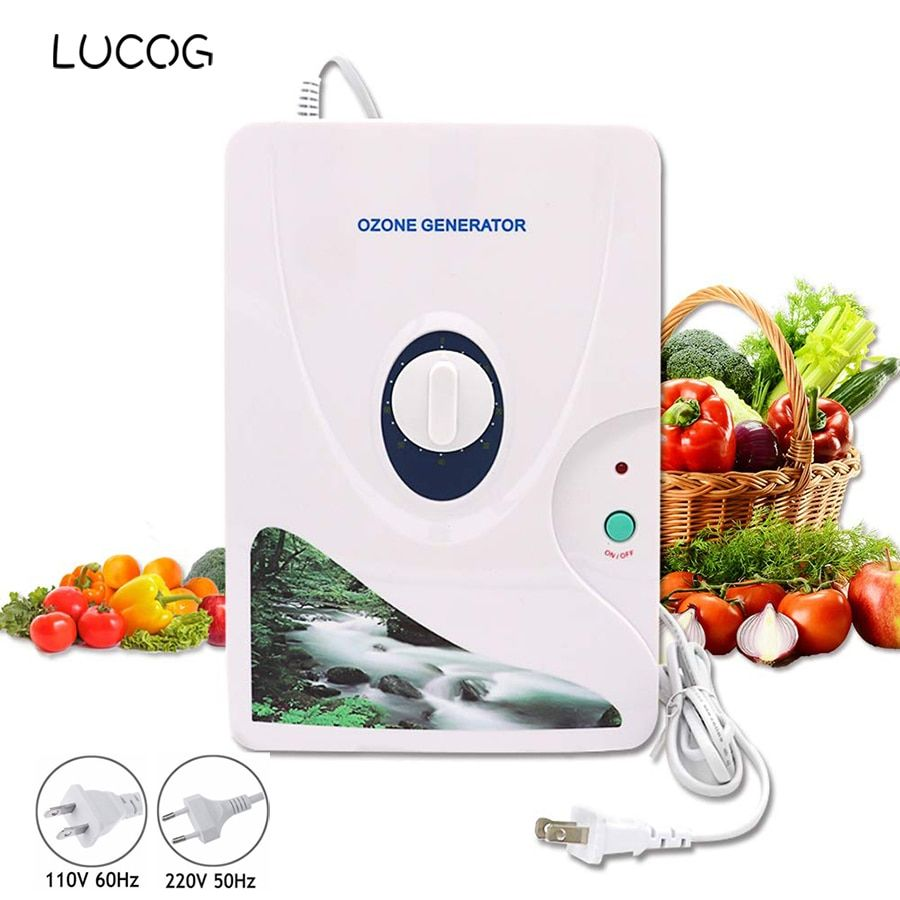 LUCOG 600 mg/h générateur d'ozone ozonateur purificateur d'air minuterie de roue légume fruits viande ioniseur d'air stérilisateur 220 V ou 110 V