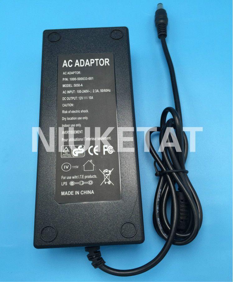 DC Puissance 12 V 10A AC 100 V-240 V 12V10A LED adaptateur d'alimentation de la bande LED Alimentation Adaptateur lecteur pour RGB LED bande 5050 2835 12 V 10A