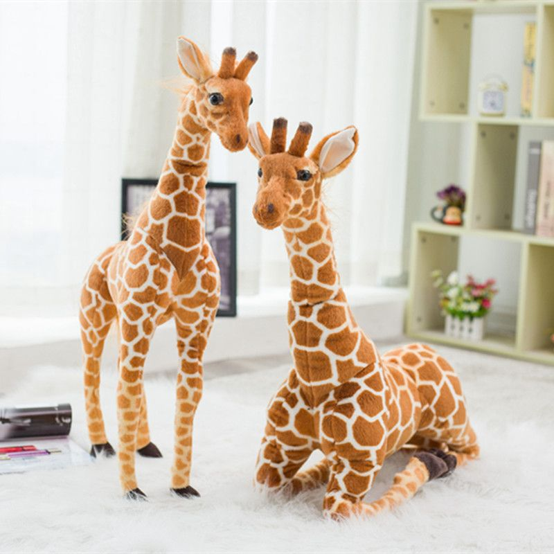 60/80cm Simulation Giraffe Plush Toys Cute Stuffed Animal Dolls Soft Animal Giraffe Doll High Quality <font><b>Birthday</b></font> Gift Kids Toy
