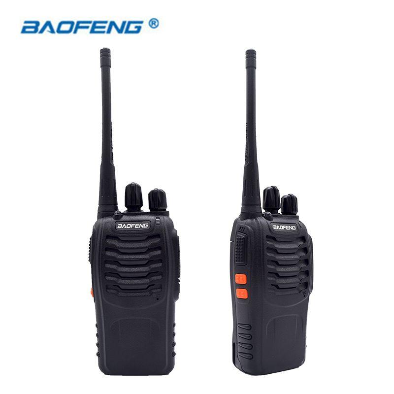 2PCS Walkie Talkie Baofeng BF-888S 16CH UHF 400-470MHz Baofeng 888S Ham Radio HF Transceiver  Amador Portable