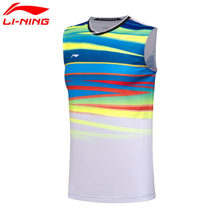 Li Ning Fans Edition Shirt Men AT DRY Badminton Vest Breathable Light Shirt Competition Top Comfort Li Ning Sports Vest AVSM101