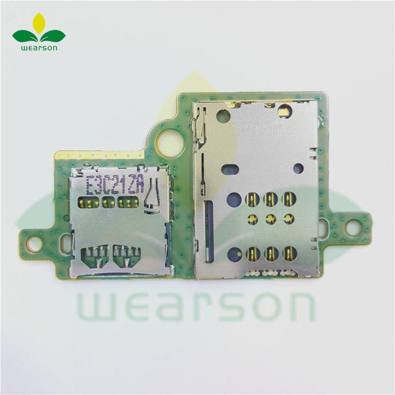 S6000H Sim-sd card slot pcb board für Lenovo Pad S6000 Sim + SD bord Freies verschiffen mit spurhaltungszahl