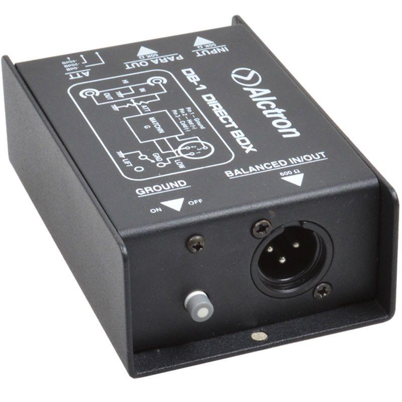 Alctron DB-1 DI Direct Box New Arrive, Passive Stereo DI Direct Box - 1 Channel Professional DI Boxes