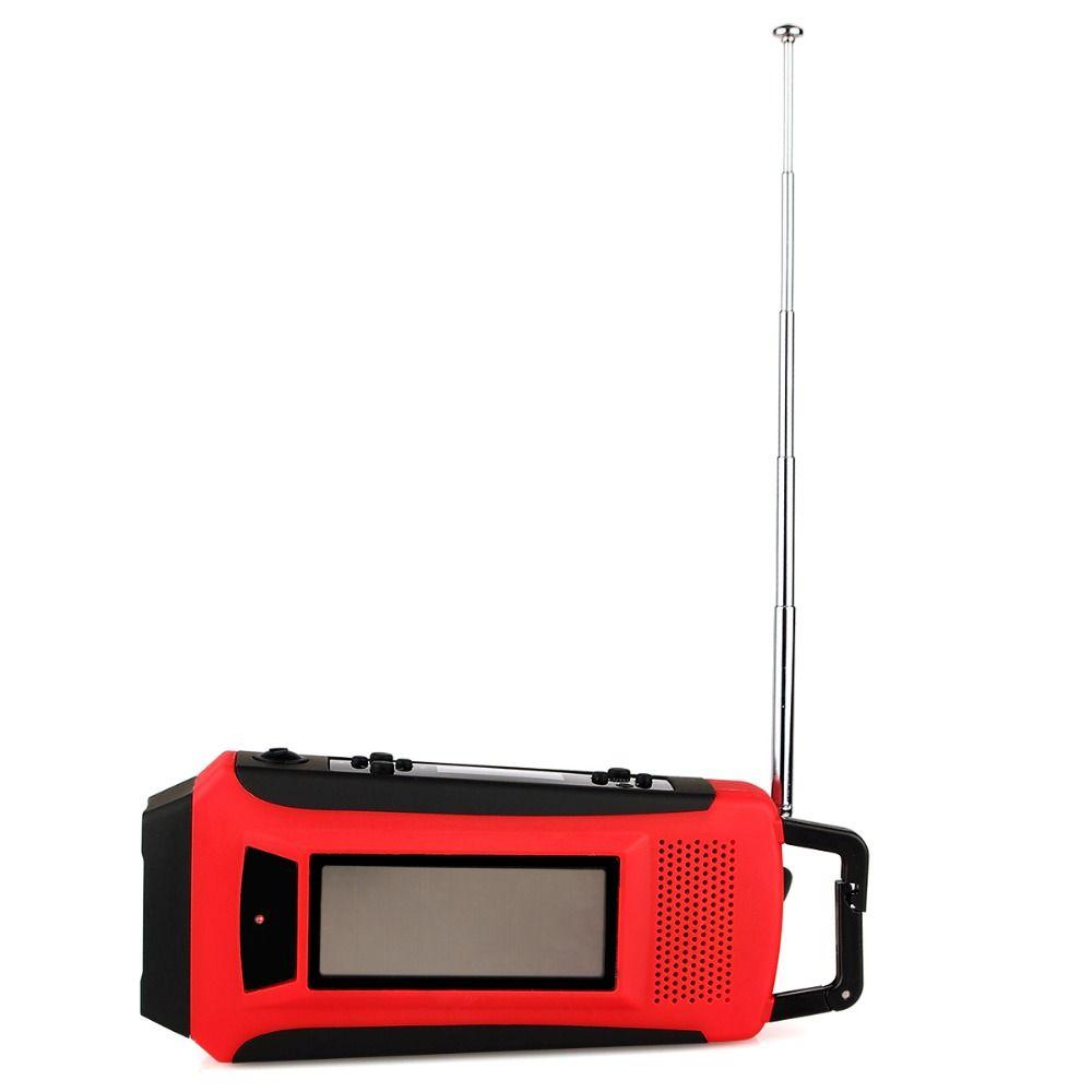 TIVDIO Portable Radio Numérique D'urgence Solaire Manivelle FM/AM/Météo NOAA Radio Avec LED Lampe de Poche et Téléphone chargeur Y4411C