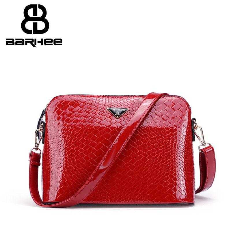 Barhee Мода Аллигатор Курьерские сумки код Лакированная кожа Крокодил шаблон сумка для Горячая распродажа; женская обувь сумки бежевый