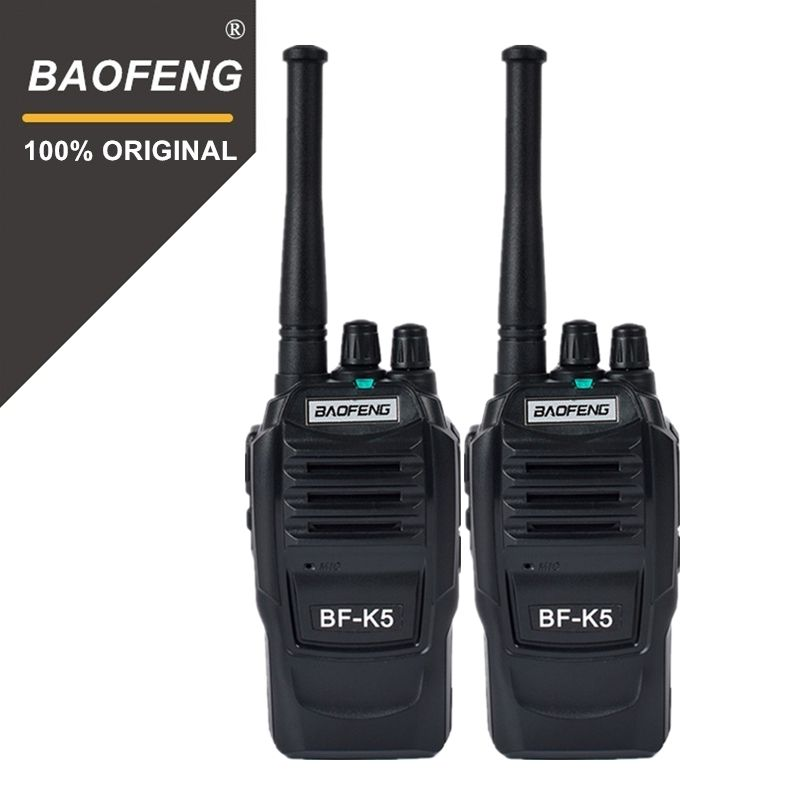 2pcs Baofeng K5 100 Mile Walkie Talkie 400-470MHz UHF Transceiver 1500mAh 2 Way Radio Amateur Handy Interphone for Security