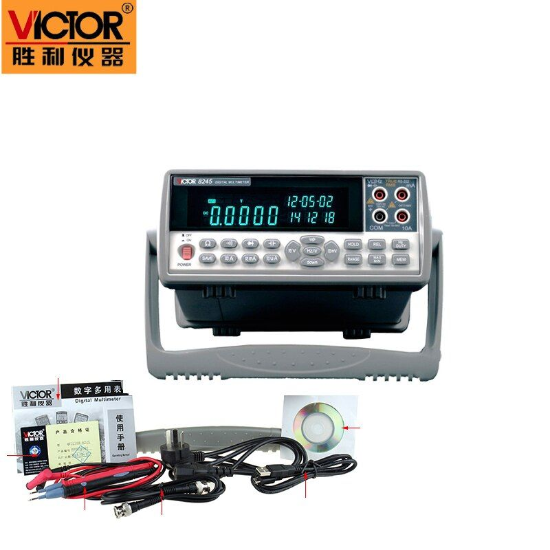 VICTOR 8245 VC8245 4 1/2 Bench desktop display with high precision digital MULTIMETER Ture RMS with USB interface