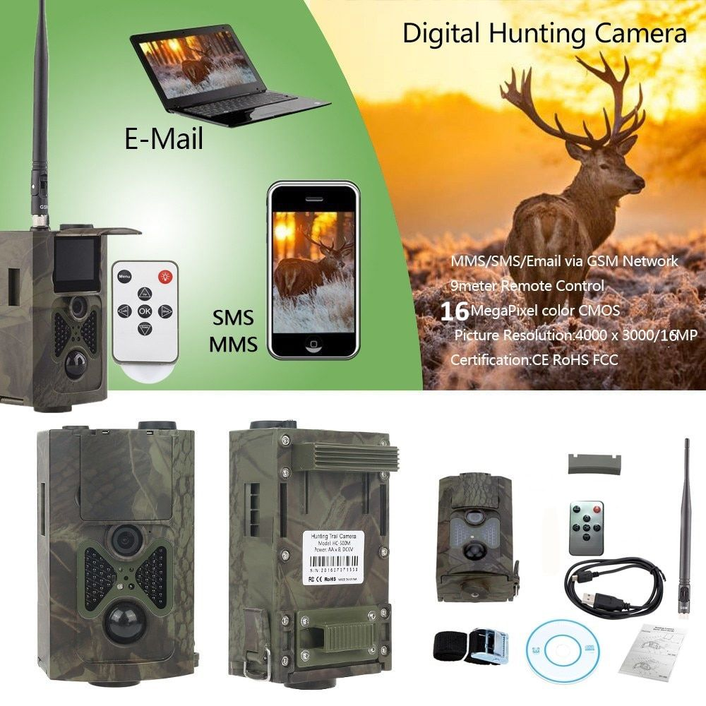 Hunting Camera HC 550M MMS 16MP 1080P Trail Hunting Camera 0.5s Trigger Photo Traps 120 degrees PIR Sensor Wildlife Trail Camera