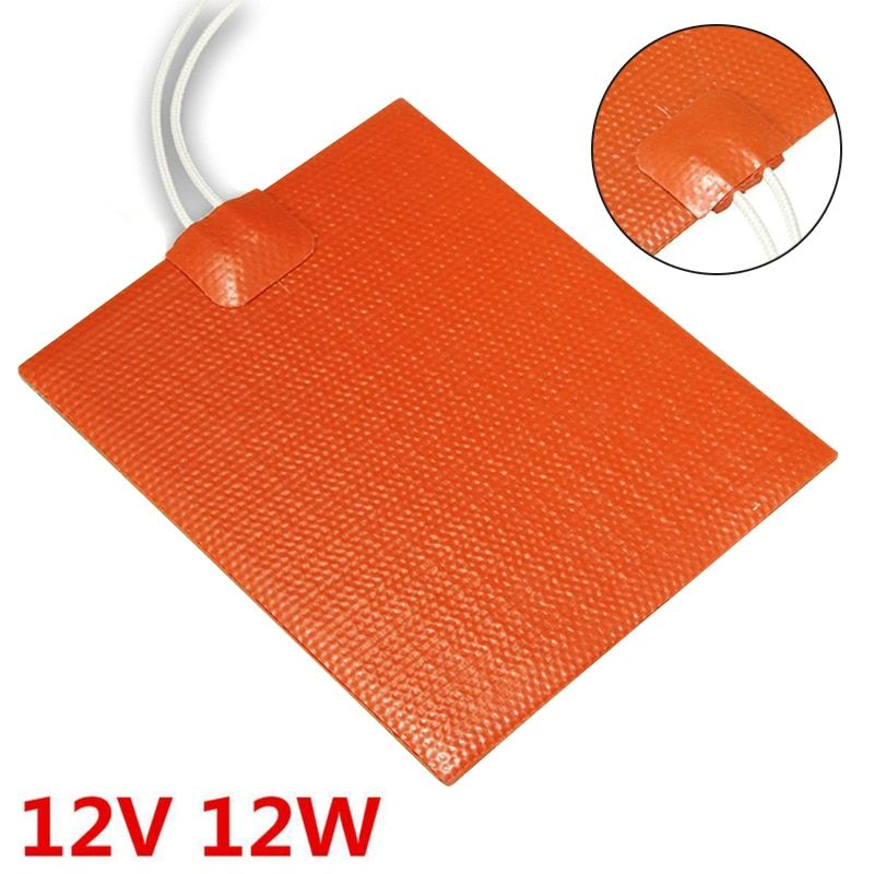 Mayitr 12V 12W Silicone Rubber Heating Panel Constant Temperature Panel Plate 100*120mm