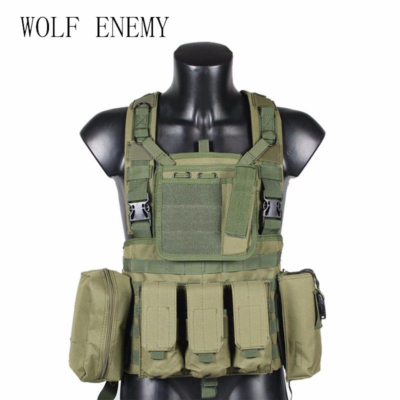 RRV Tactical Vest, Molle Vest, 600D Nylon, Airsoft Tactial Gear Colete Tatico, Black, Tan, OD Green, Woodland, CP, ACU