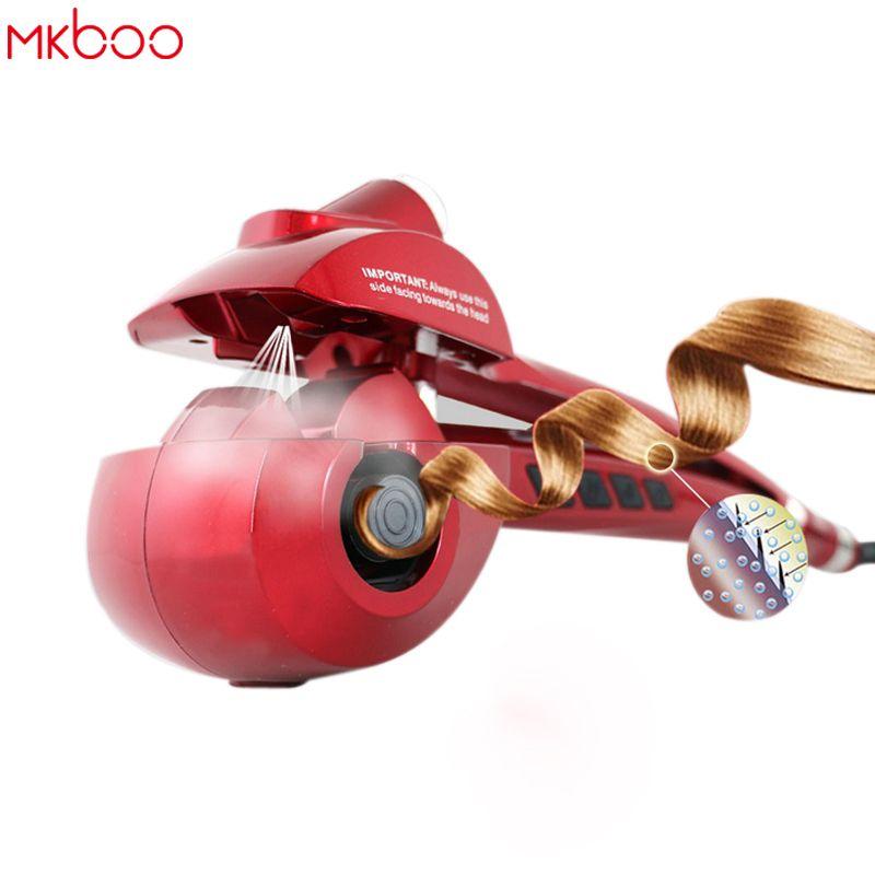 MKBOO electric pro hair curler styler and curling iron automatic hair curl roller curling wand krultang EU US Plug