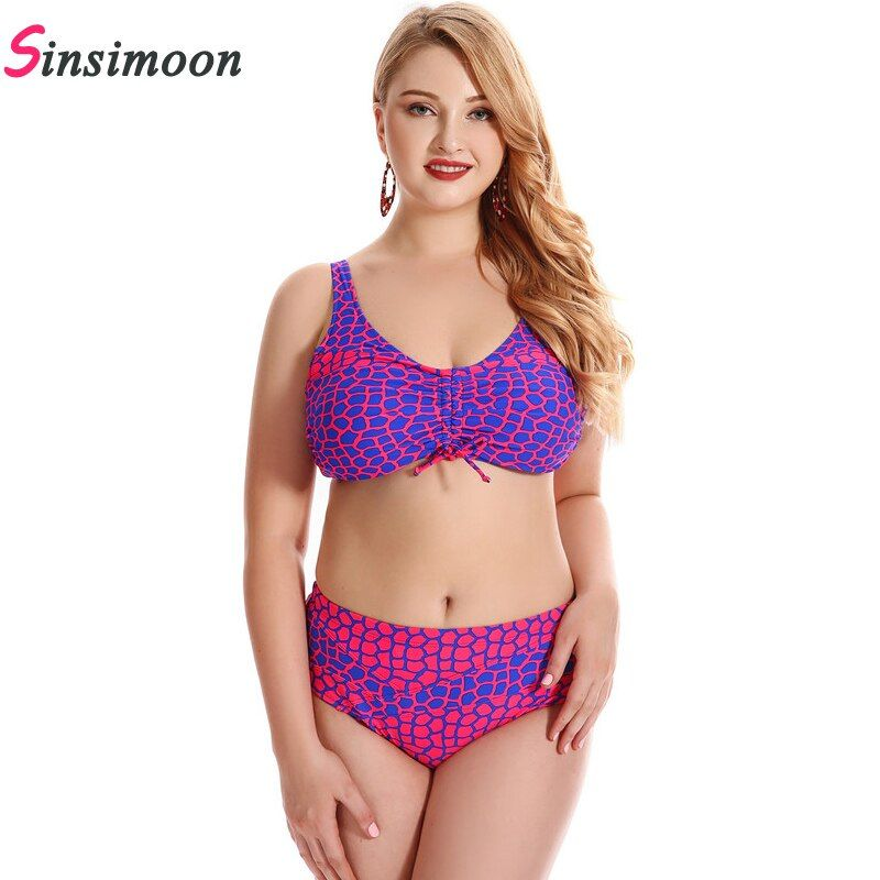 Leopard Bikini Set Women Plus Size Bikini New Dot Biquini Bandage Bathing Suit Dot Swimsuit Big Bust Swimwear Bandeau Beachwear