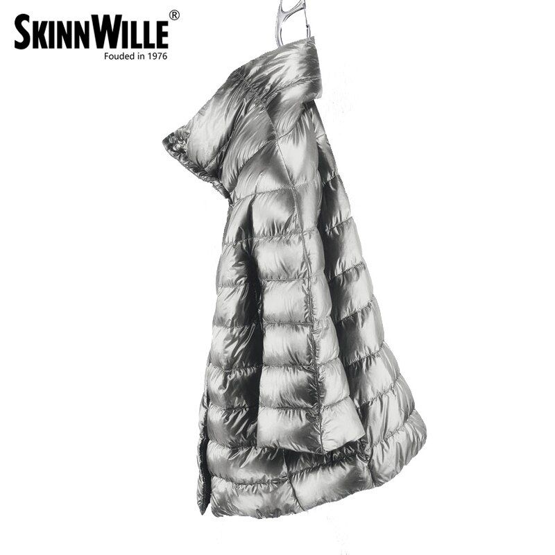 skinnwille High quality of villmergen medium-long thickening down coat luxury female 2017 outerwear