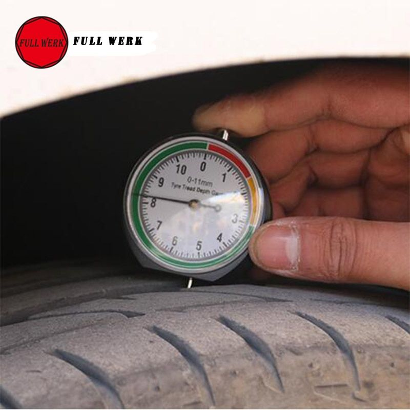 Car Wheel Tire Pressure Tread Depth Gauge Meter Pointer Indicator Measurement Device Tire Condition Monitor Display Accessories