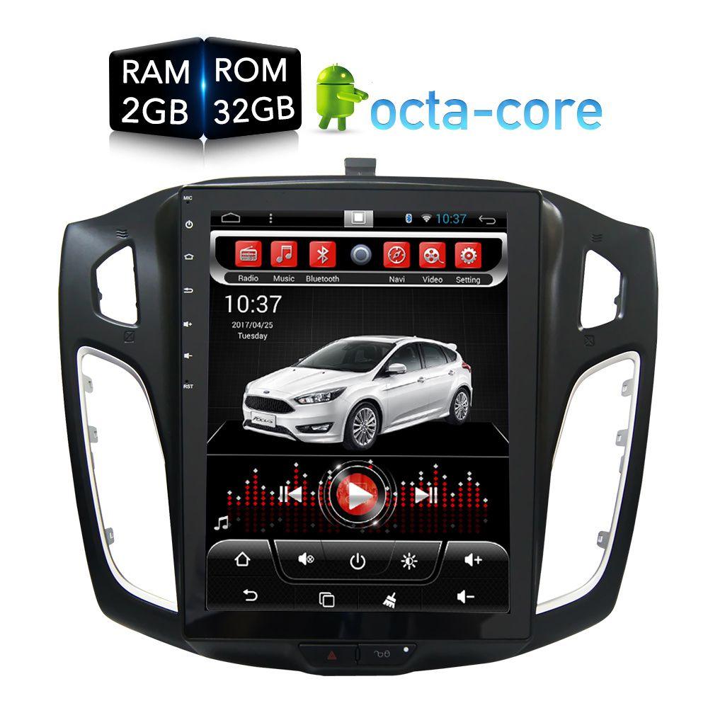 Vertikale Riesige bildschirm Android Auto DVD Player GPS Nav multimedia für Ford Focus 2 Din 2012 2013 2014 2015 RDS radio Audio Stereo