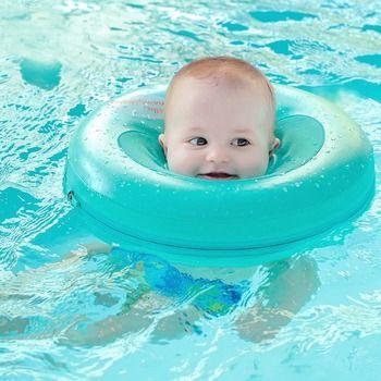 Enfant non gonflable cercle cou nager formateur pas besoin pompe à air bébé de bain de natation anneau flottant conformation ronde accessoires