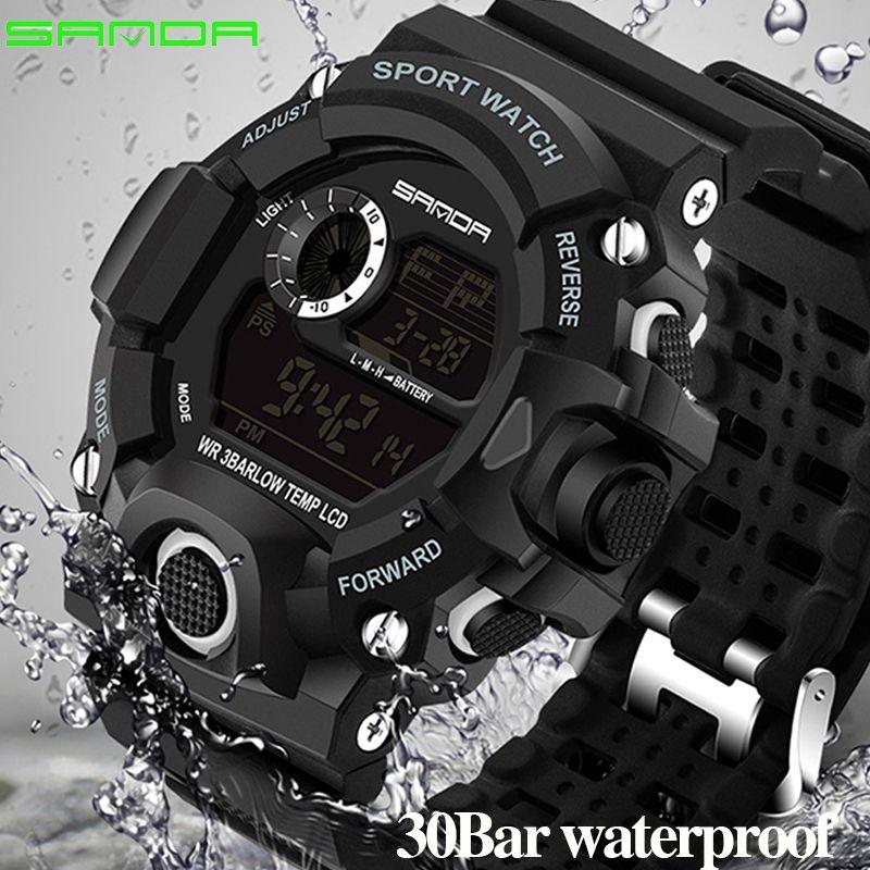 Montres de Sport pour hommes S-SHOCK montre militaire de mode montres de plongée hommes Sport LED montres numériques étanche Relogio Masculino