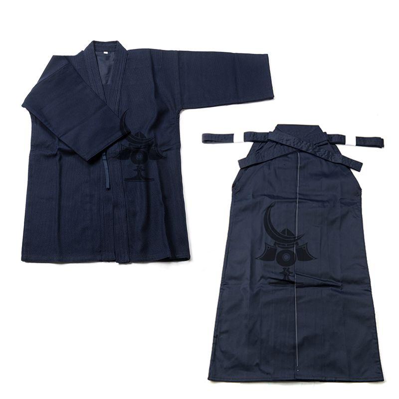 Japanischen Kendo Aikido Hakama Anzug Top Shirt + Hakama Set Cotton Judo Wushu Kleidung Kung Fu Uniform Martial Arts Uniform