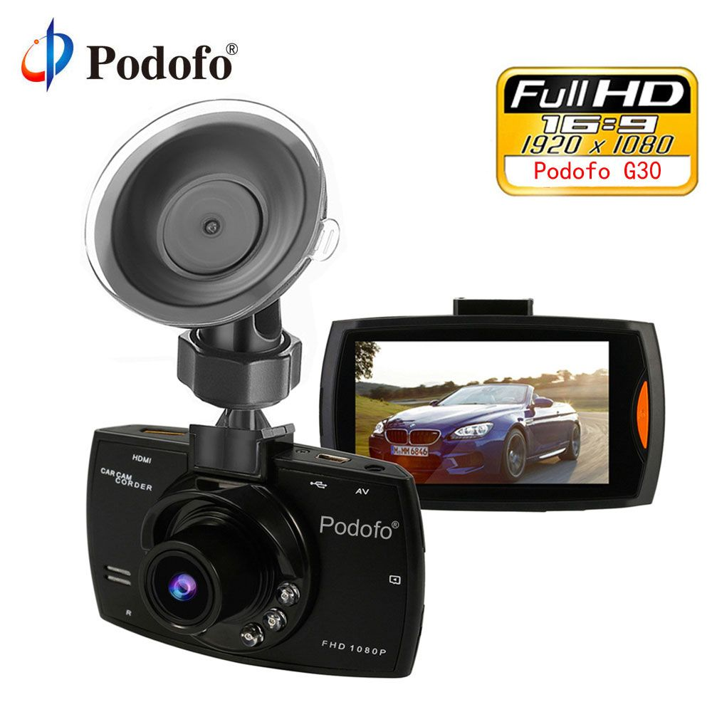 Podofo Mini Car DVR G30 Full HD 1080P Camera With Motion Detection Night Vision G-Sensor Dashcam Registrar Dash Cams DVRs