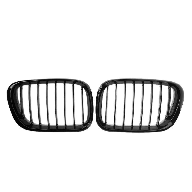 2pcs/lot Gloss Black Car Racing Grills Automobile Front Kidney Grille Grills for BMW E53 X5 Sport 1999-2003