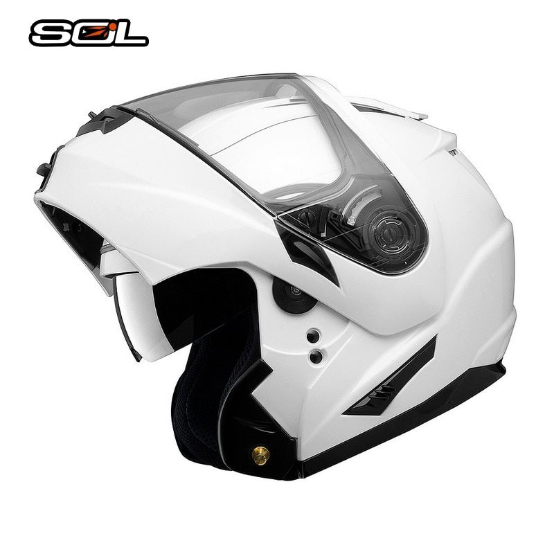 SOL Flip Up Helmet Motorcycle Helmet Casco Moto With Inner Sun Visor Motorcycle Racing Off Road Helmet Advanced ABS Material