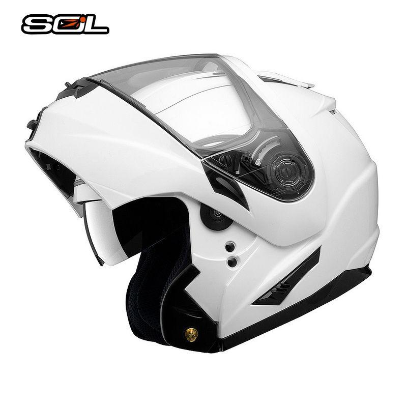 SOL Flip Up Helmet Motorcycle Helmet Casco Moto With Inner Sun Visor Motorcycle Racing Off Road Helmet Advanced ABS Material