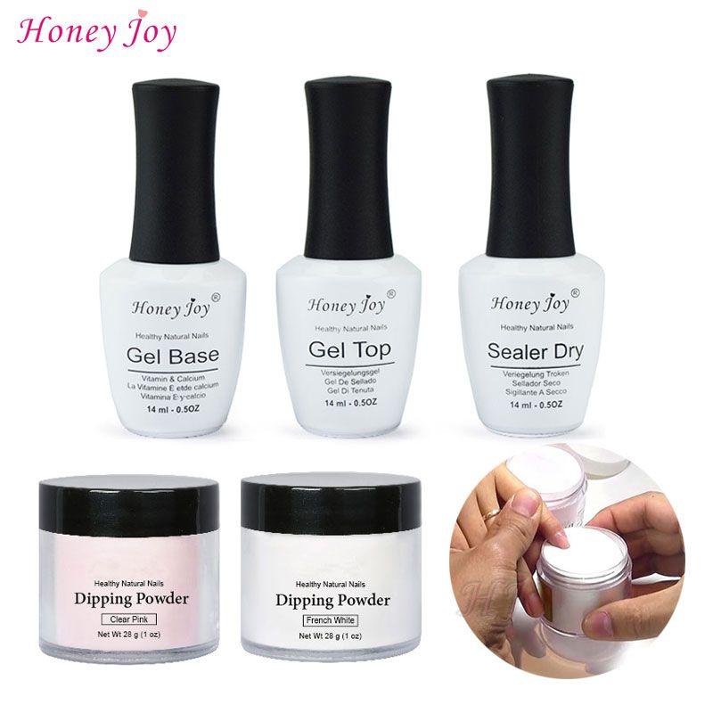 28g/Box French White Dipping Powder No Lamp Cure Nails Dip Powder Clear Pink Gel Nail Powder Natural Dry For Nail Salon