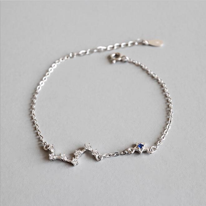 LVB73 for NLNL sned with bag flower women bangle 925 silver size about 58mm