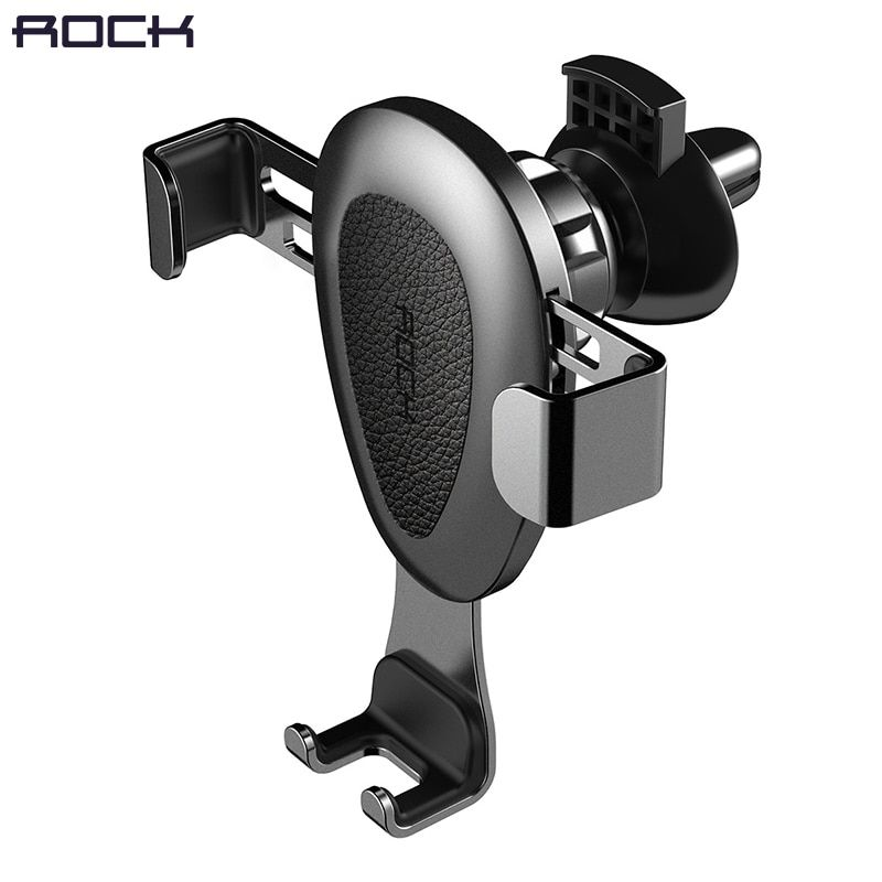 Gravity Car Phone holder, ROCK Universal Mobile Car Holder Stand Flexible Pop For Car Air Vent Adjustable Aluminium Alloy